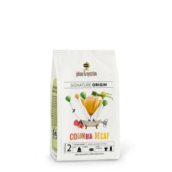 johan & nyström Colombia Decaf Single Origin szemes kávé, 250g