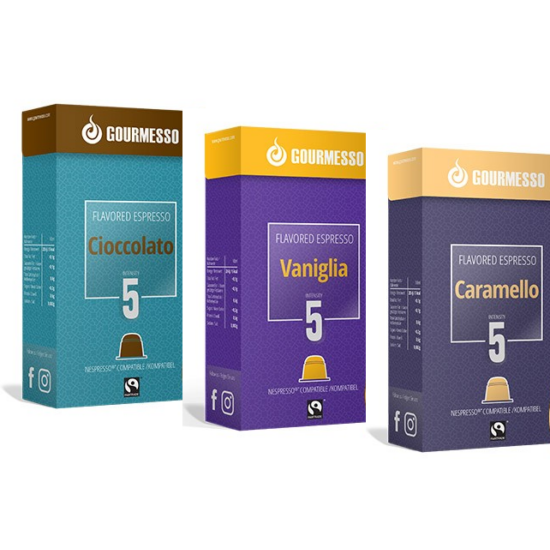 "Gourmesso Gourmesso csoki,vanília, karamell ""A"" csomag"
