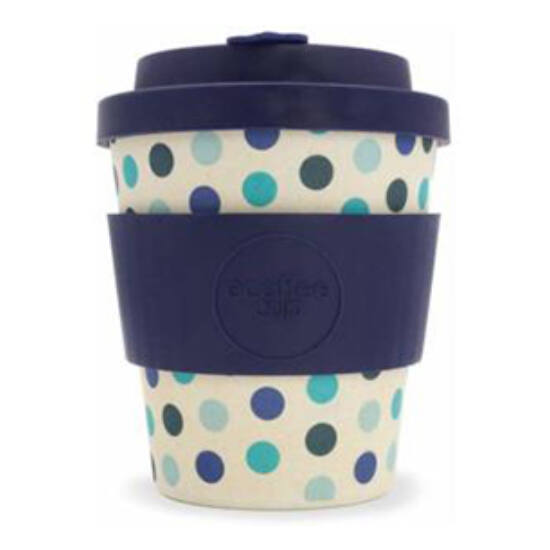 Ecoffee Cup hordozható kávéspohár - Blue Polka- 240ml