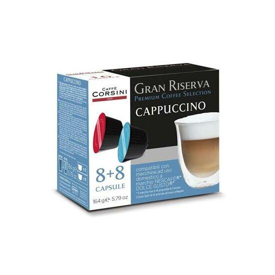 Caffe Corsini Gran riserva Cappuccino, Dolce Gusto kompatibilis kapszula 16x7g