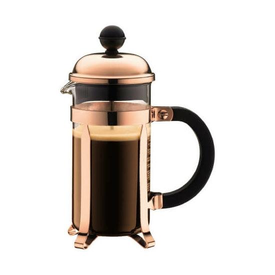 Bodum CHAMBORD French Press kávékészítő, 3 adagos, 0.35 l, réz színű