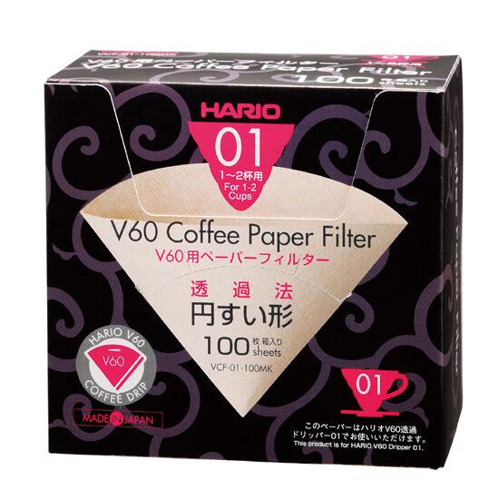 Hario V60 barna papírfilter 100 db (VCF-01-100MK)