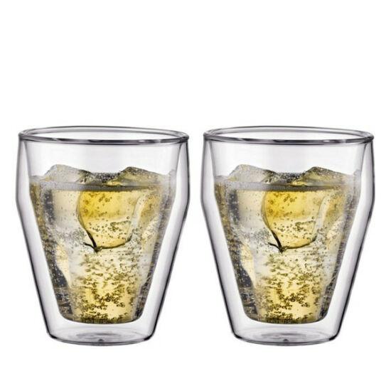 Bodum TITLIS Dupla falú üveg pohár szett (2 db), 0.25 l