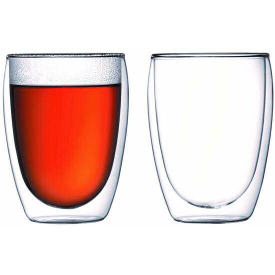 Bodum PAVINA Dupla falú üveg pohár szett (2 db), 0.35 l