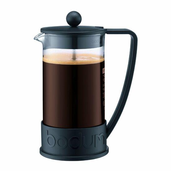 Bodum BRAZIL Kávékészítő 8 adagos, 1.0 l + 2 db 0.35 l pohár, fekete színű