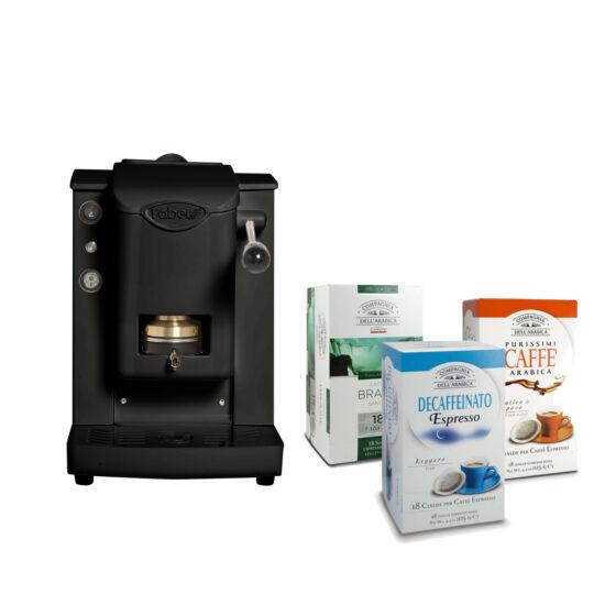 Faber mini SLot Plast, fekete + Compagnia kávé csomag