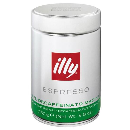 illy darált koffeinmentes kávé, 250g