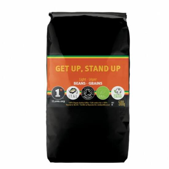 Marley Coffee Get up, Stand up szemes kávé, 500g