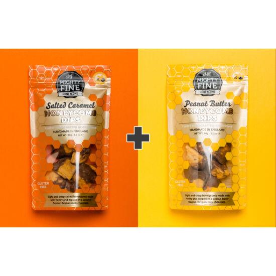 Mighty Fine törökméz Duo Pack: sós karamell + mogyoróvaj