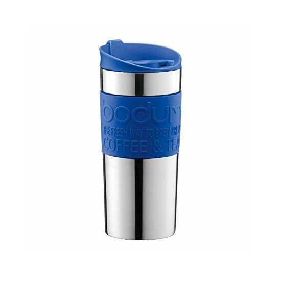 Bodum Travel Mug Uti bögre, rozsdamentes acél falú, kék 0,35l