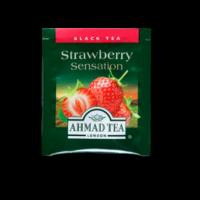 Strawberry Sensation, eper ízesítésű fekete tea tasak