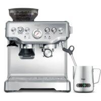 Sage BES875BSS Eszpresszó kávéfőző kávédarálóval +  hőmérséklet kijelzős tejgőzölő
