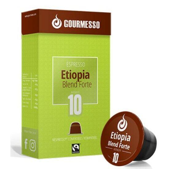 Gourmesso Etiopia Blend Forte Nespresso kompatibilis kávékapszula, 10 db