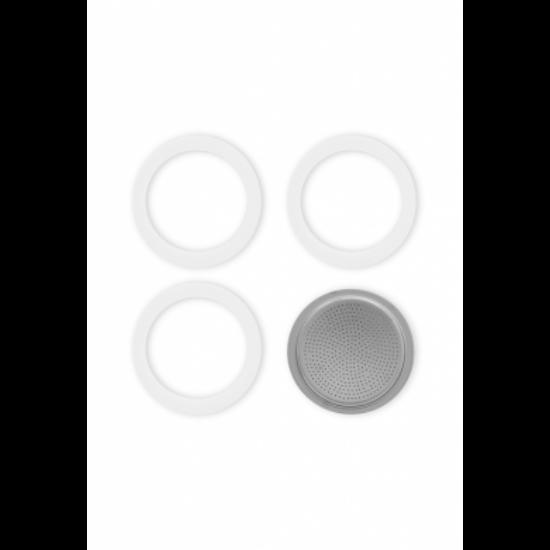 Bialetti Tömítés 3db + 1db szűrő Brikka 2 cup