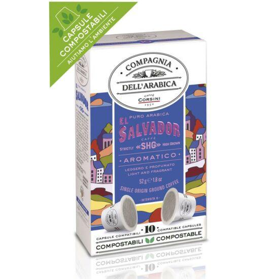 "Compagnia Dell' Arabica Caffé El Salvador ""SHG"" Strictly High Grown Nespresso kompatibilis kávékapszula, 10 db"