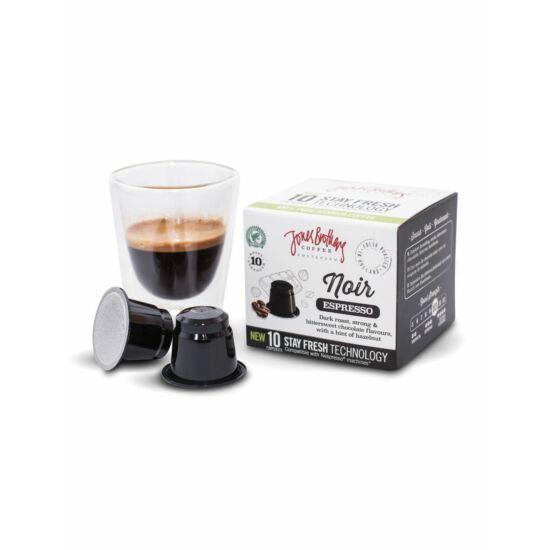 Jones Brothers Coffee Noir kávékapszula Nespresso kompatibilis kávékapszula, 10db Lejárat:2021.06