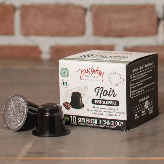 Jones Brothers Coffee Noir kávékapszula Nespresso kompatibilis kávékapszula, 10db