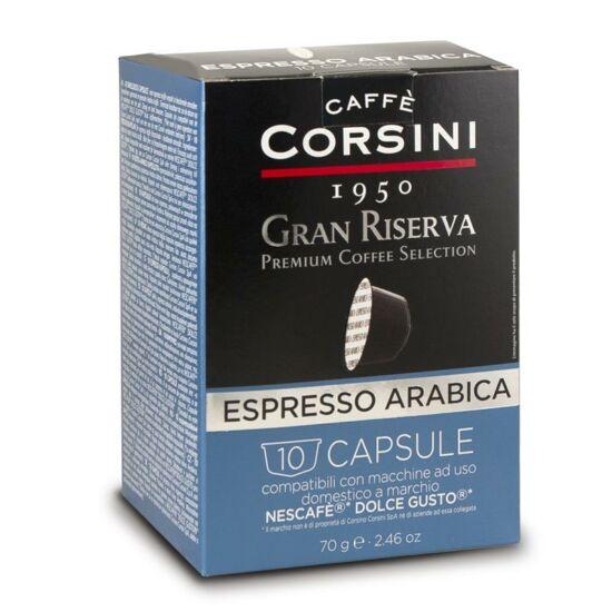 Caffé Corsini Gran Riserva Arabica, Dolce Gusto kompatibilis kávékapszula 10x7g