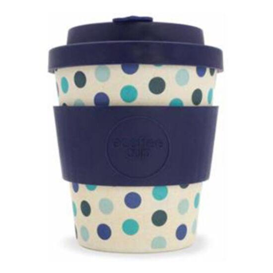 Ecoffee Cup, Blue Polka kávéspohár, 250ml