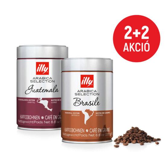 Illy Brazilia+Guatemala 4x250g szemes kávé csomag