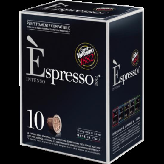 Caffé Vergnano Intenso Nespresso kompatibilis kávékapszula, 10 db