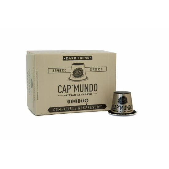 Cap' Mundo Dark Ebene Nespresso kompatibilis kávékapszula, 10 db