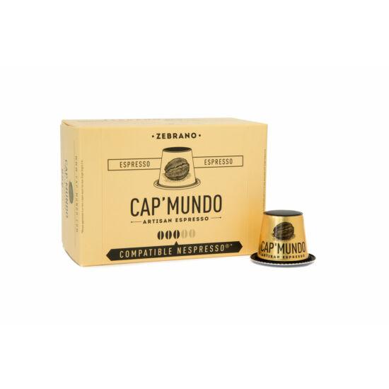 Cap' Mundo Zebrano Nespresso kompatibilis kávékapszula, 10 db