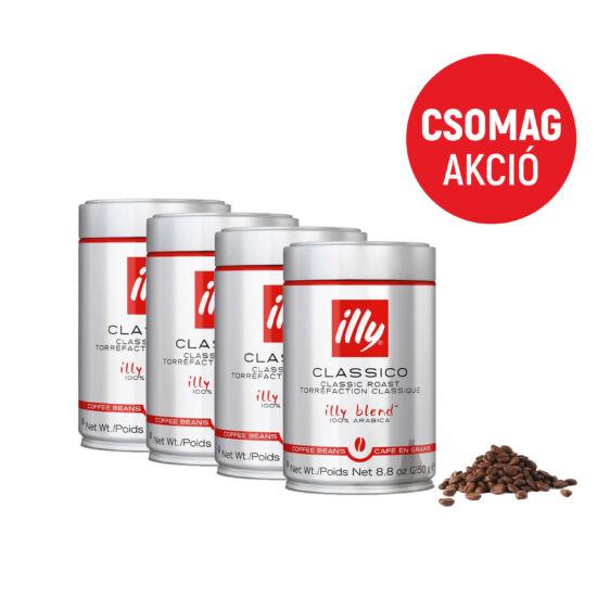 Illy Espresso Classico 4x250g szemes kávé csomag