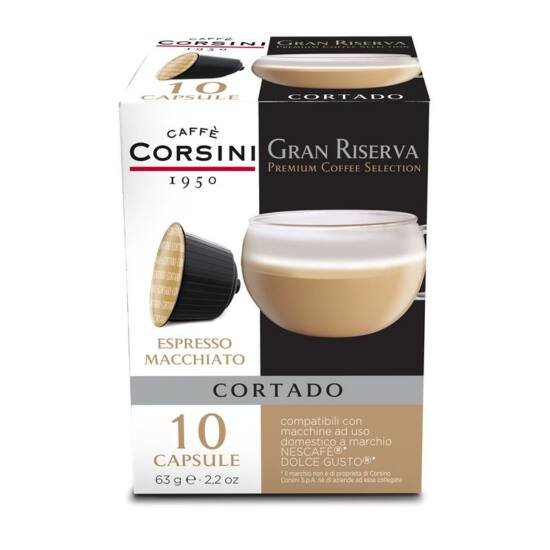 Caffé Corsini Gran Cortado Dolce Gusto Kompatibilis kávékapszula 10x7g