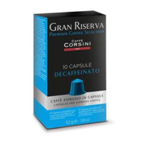 Caffé Corsini Gran Riserva Decaffeinato Nespresso kompatibilis kávékapszula, 10 db