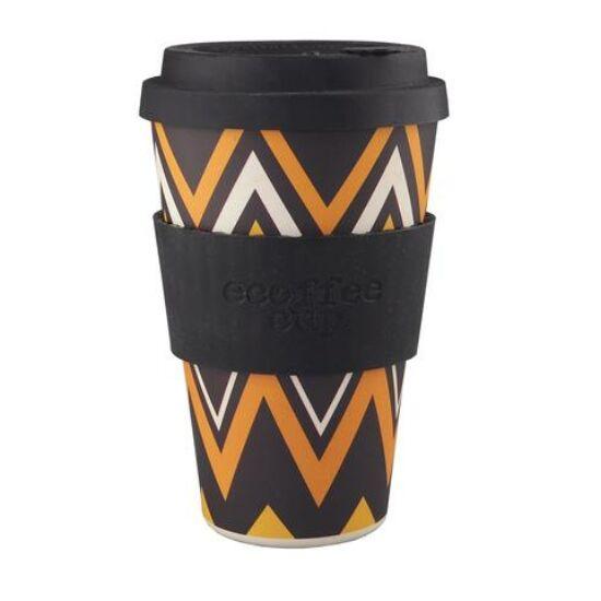Ecoffee Cup, ZignZag kávéspohár, 400ml