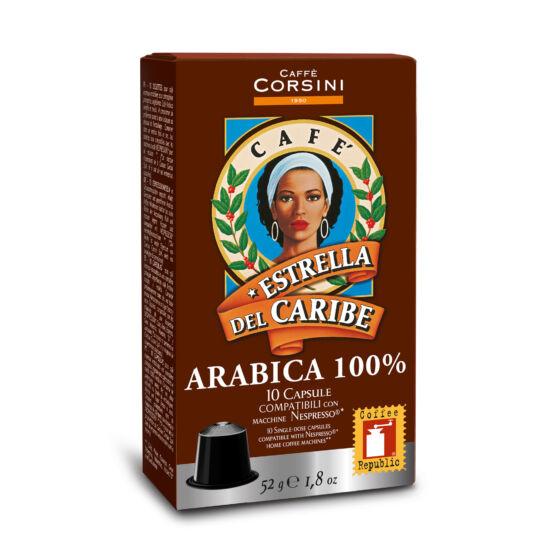 Caffé Corsini Estrella kávékapszula Nespresso kompatibilis kávékapszula, 10db