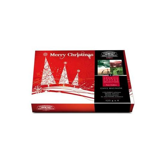 Compagnia Dell'Arabica Merry Christmas - Caffé Macinato Arabica Selection karácsonyi őrült kávé ajándékcsomag 4x125g