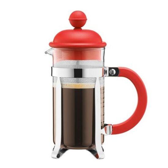 Bodum Caffeteria Big Kávé készítő French press 1.0l, piros