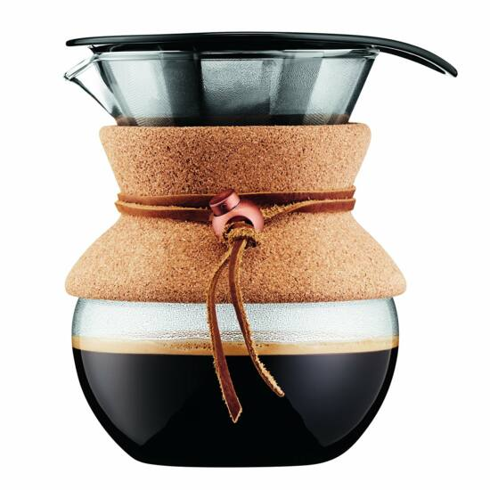Bodum POUR OVER Kávékészítő filterrel, 0.5 l, parafa