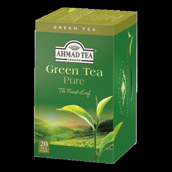 Ahmad Tea Green Tea Pure, zöld tea, aromazáró tasakban, 20 db