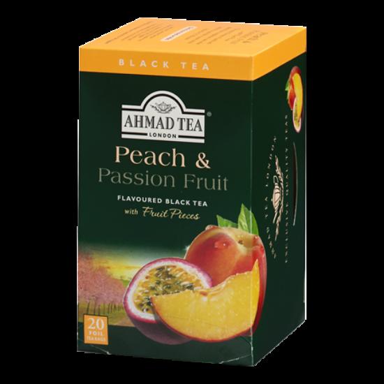 Ahmad Tea Peach & Passion Fruit, őszibarack és maracuja ízesítésű fekete tea, aromazáró tasakban, 20 db