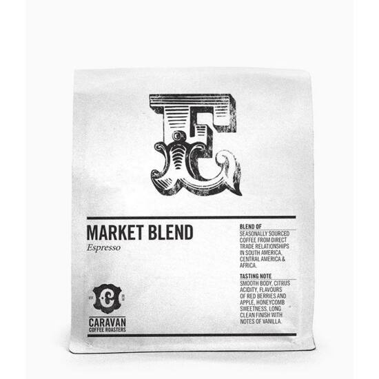 Caravan Coffee Roasters Coffee Roasters Market Blend Espresso szemes kávé, 250g