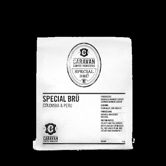 Caravan Coffee Roasters Special Brü & Colombia & Peru szemes kávé 250g
