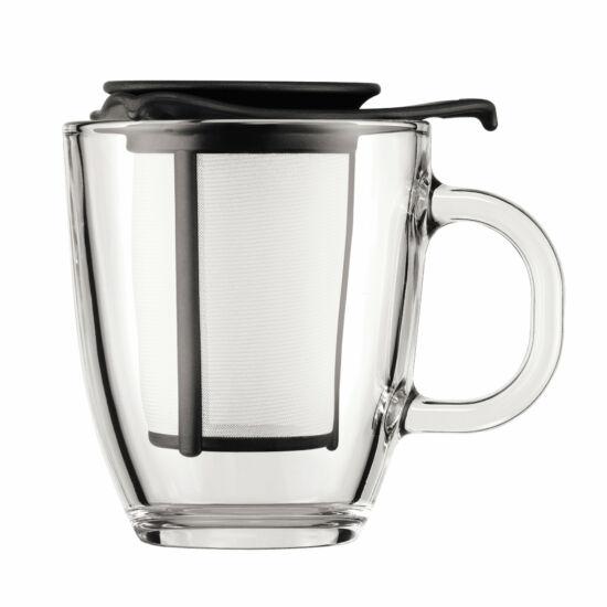 Bodum YO-YO teás bögre szűrővel 350ml, fekete