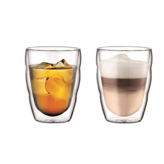 Bodum PILATUS Dupla falú üveg pohár szett (2 db), 0.25 l