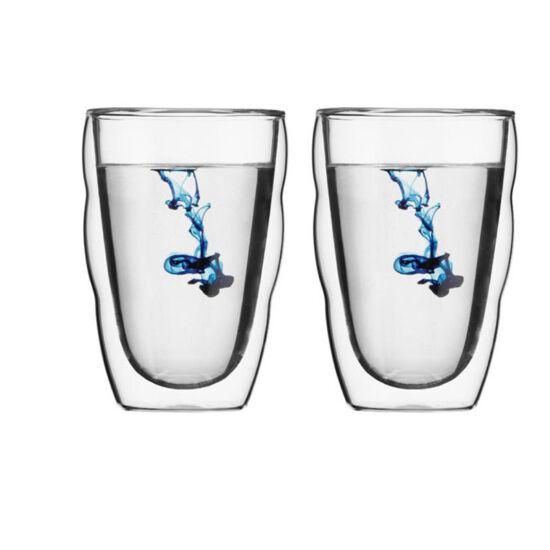 Bodum PILATUS Dupla falú üveg pohár szett (2 db), 0.35 l