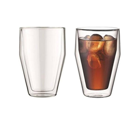 Bodum TITLIS Dupla falú üveg pohár szett (2 db), 0.35 l