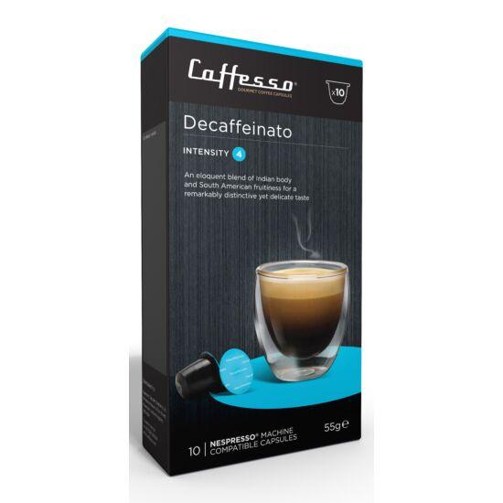 Caffesso Decaffeinato Nespresso kompatibilis kávékapszula, 10 db