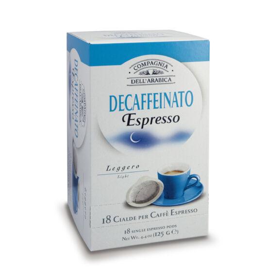 Compagnia Dell' Arabica Caffé Puro Arabica Decaffeinato kávé pod, 18db