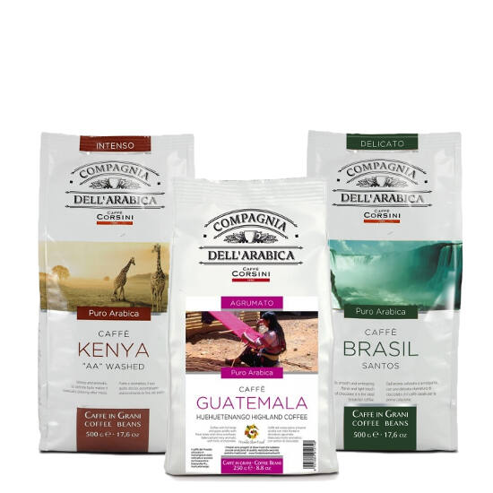 "Compagnia Dell' Arabica kóstoló csomag ""B"" szemes kávé, 3x250g"
