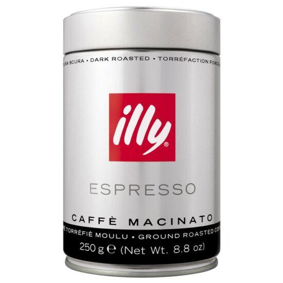 illy darált sötét pörkölésű kávé, 250g