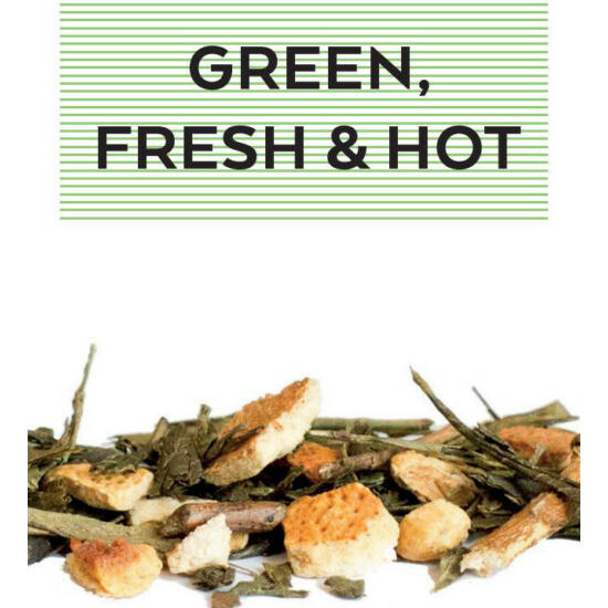 Johan & Nyström Green, fresh & hot, ízesített zöldtea
