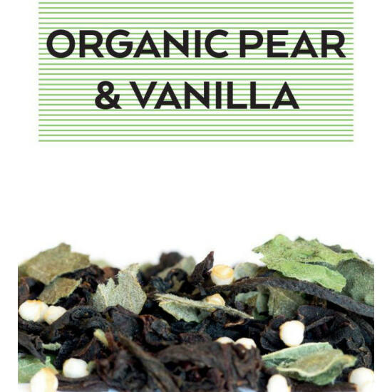 johan & nyström Organic Pear & Vanilla, fekete tea