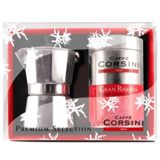 Corsini Ajándék Box 250g őrölt kávé + Kotyogó 2 cup